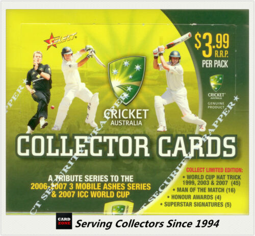 2007-08 Select Cricket Trading Card Series Factory Box (32 Packs)