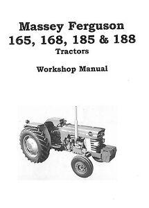 massey ferguson 165 168 185 188 chassis 1987 workshop manual rh ebay com au Massey Ferguson Model 85 Massey Ferguson 265