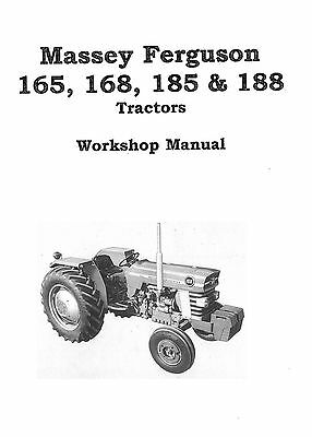 Apprehensive Massey Ferguson 165,168,185,188 Chassis 1987 Workshop Manual Photocopy Pure And Mild Flavor Industrial Manuals