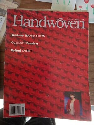 Vests; Adornments; Rugs; Velveteen January//Feb 1997 Handwoven Magazine Weaving