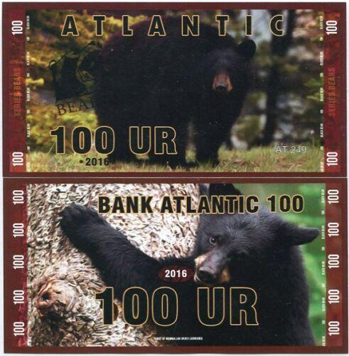 ATLANTIC BEAR 100 UR 2016 BLACK BEAR UNC