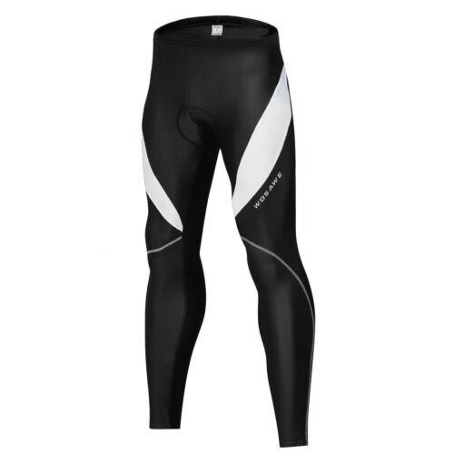 Men Cycling BIB Long Pants Tights Trousers Bicycle Bike Padded Shorts Reflective