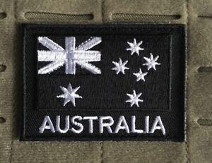 Australia-Australian-Flag-Patch-Army-ADF-Black-Military-SAS-2DO-Subdued
