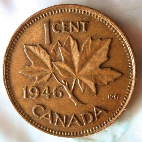 1946 CANADA CENT Excellent Collectible Coin Big Canada Bin FREE SHIPPING