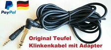 TEUFEL Klinkenkabel ***NEU*** 3,5mm zu 6,3/3,5mm, 3m Länge, gewinkelt TOP HAMMER