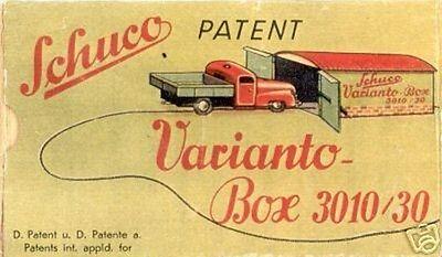 Repro Box Schuco Varianto Box 3010/30 Neue Sorten Werden Nacheinander Vorgestellt Autos & Lkw