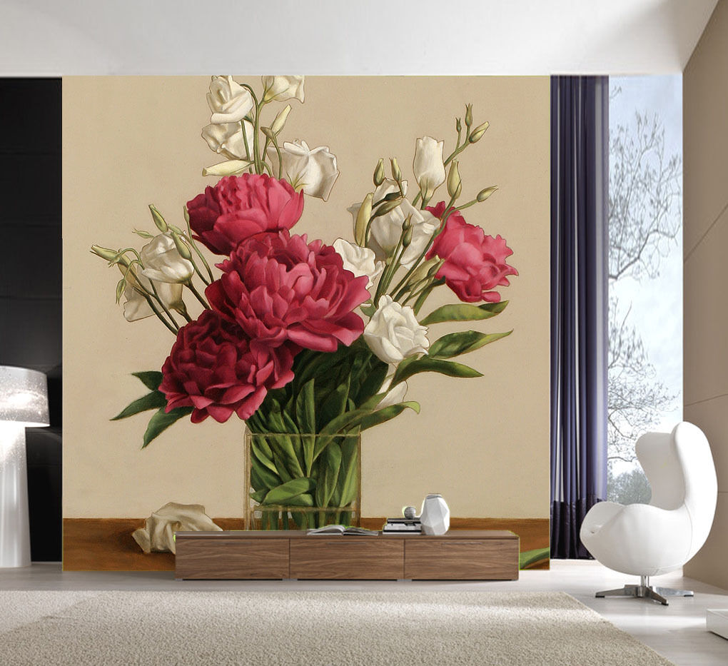 3D Fresh Red Blossoms 51 Wall Paper Wall Print Decal Wall Indoor AJ Wall Paper