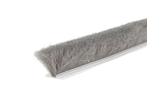 SP 6,7 x 12 mm x  25 m = 0,80 Euro//m Velourbürste grau Bürstendichtung