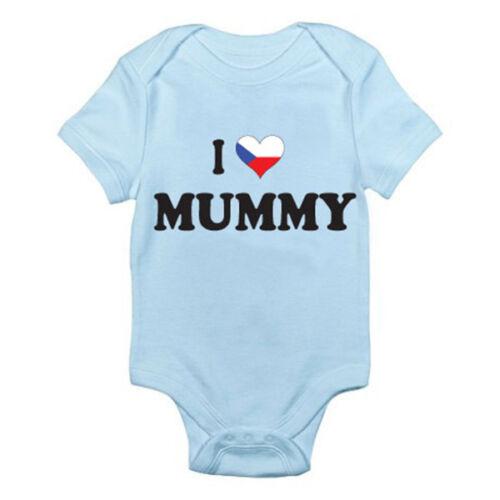 Romper Mother I LOVE CZECH MUMMY Mum Czech Republic Themed Baby Grow