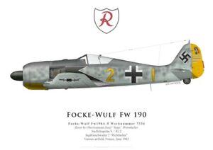 Print-Focke-Wulf-Fw-190A-5-J-Wurmheller-JG-2-Vannes-June-1943-by-G-Marie