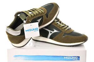Sneakers-Uomo-Mizuno-Etamin-2-Scarpe-Pelle-Scamosciata-Nere-Verde-Grigie-Nuove