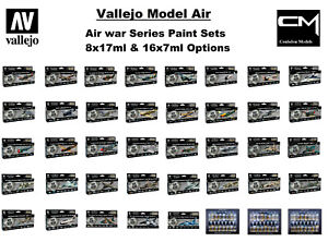 Vallejo-Model-Air-039-Air-War-Series-039-Airbrush-Paint-Sets-Choose-Multiple-Options