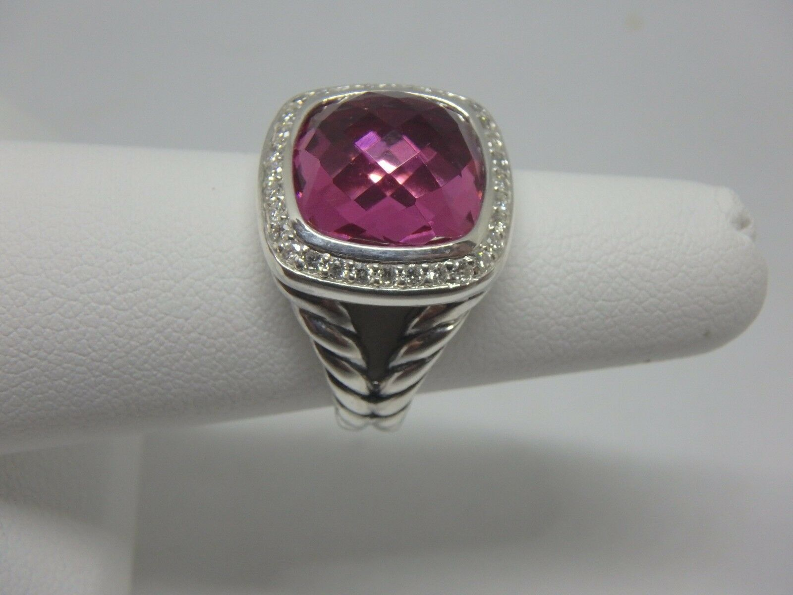 2c8e3bb8ecf03 David 5 size Diamonds and Tourmaline Pink with Ring Albion 11mm ...