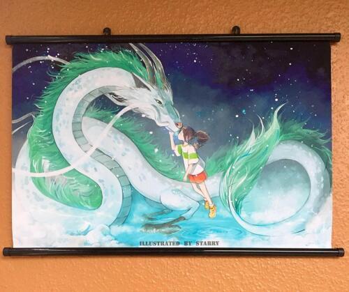 Chihiros Reise ins Zauberland Poster Plakat Rollbild Wallscroll Anime 60x40CM