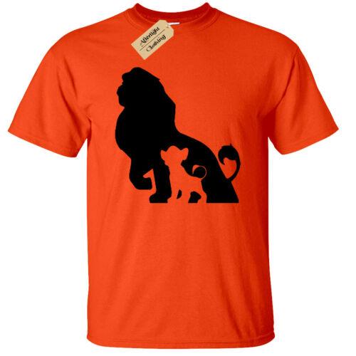 Kids Boys Girls LION Silhouette T-Shirt Cub King Pride childrens
