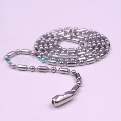 Wholesale 1.5//2//2.//3.2mm 316L Stainless Steel Ball Bamboo Link Chain Necklace