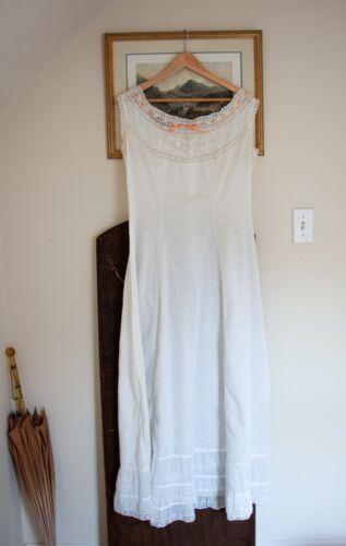 Antique Edwardian Lace Princess Petticoat /Combin