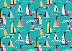 Cool-Colourful-Sailing-Boats-Poster-Size-A4-A3-Summer-Travel-Poster-Gift-8349
