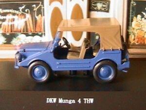 DKW-MUNGA-4-THW-BLEU-STARLINE-1-43-BLAU-BLUE-DIE-CAST-MODELCAR-MODELE-REDUIT