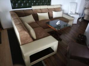Wohnlandschaft Couch Polster Sofa Sitz Ecke Eck Stoff ...