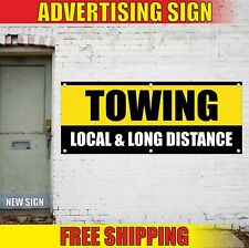 Towing Banner Advertising Vinyl Sign Flag Trailer Haulage Local Long Distance 24