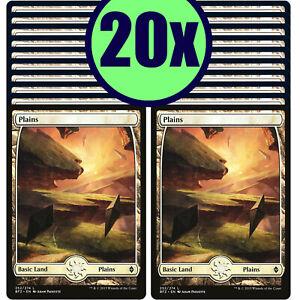 20x PLAINS 252 Full Art Basic Land NM/LP MTG Magic Battle for Zendikar