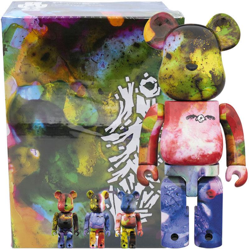 Medicom Be@rbrick orsobrick PUSHEAD 3 different Coloreees 100% & 400% 4pcs Set