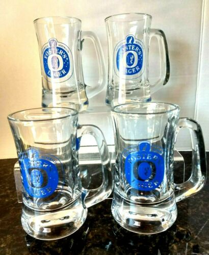 Details about  /Foster Lager Imported Australia Set of 4 8oz Heavy Beer Bar Pub Ale Glass Mugs