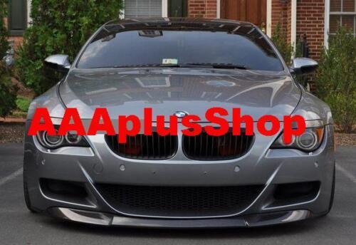 For BMW M6 2006-2011 E63 E64 Model Carbon Fiber Front Bumper Lip Spoiler
