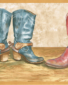 COUNTRY WESTERN COWBOY BOOTS RED BLUE BROWN 13&amp034 WIDE