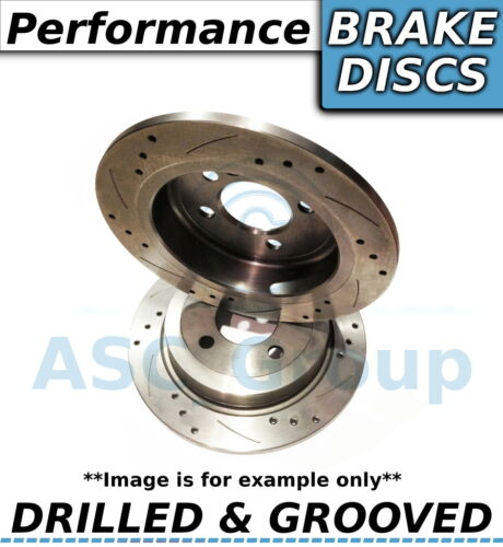 2x Uprated Performance Drilled and Grooved Front Brake Discs Pair 290mm