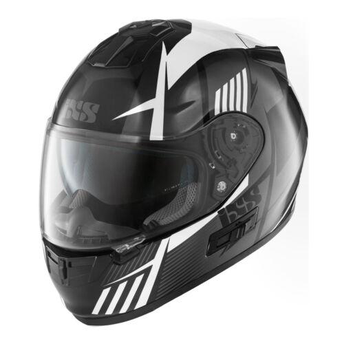 Casque moto IXS HX 444 Angle Noir-Blanc-Gris incl Pinlock