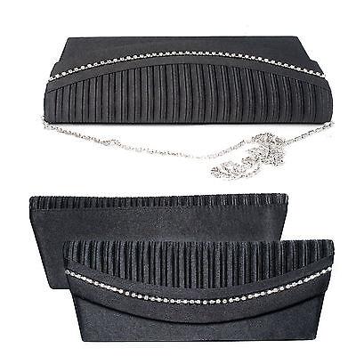 Taschen Verantwortlich Clutch Tasche Handtasche Abendtasche Edle Strass Damentasche Hochzeit Schwarz Elegante Form