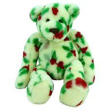 Gund Holly Bearies White Holly Bear 8743 Plush Christmas Teddy Bear Baby's 1st