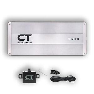 CT Sounds Car Audio Amplifier Monoblock T-1500.1D Amp 1500w RMS Class D Power