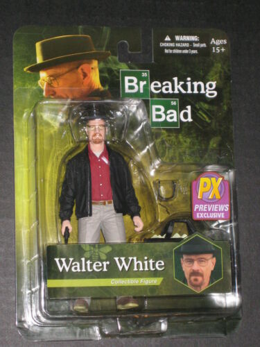 BREAKING BAD WALTER WHITE AS HEISENBERG VARIANT FIGURE BRYAN CRANSTON MEZCO BLUE