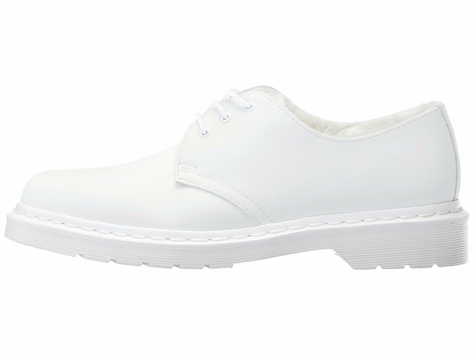 NIB Dr. Martens Martens Martens Women's FUR LINED 1461 MONO 3-Eye Leather Oxford shoes 4aa4c9