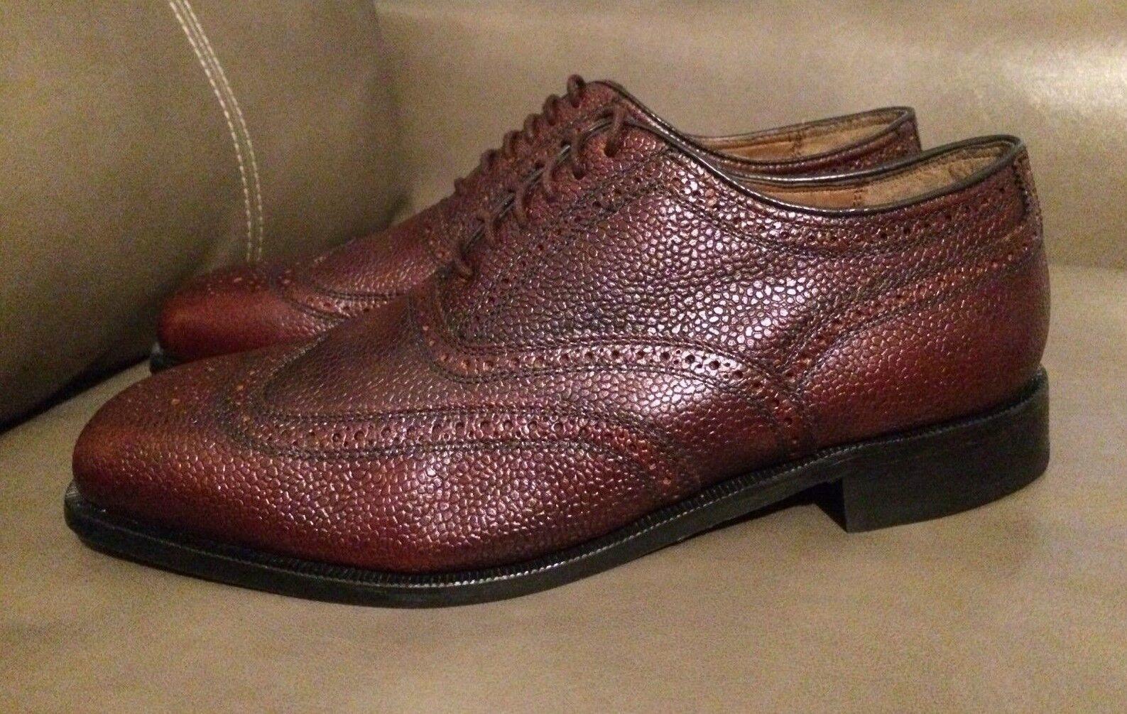 Florsheim Men's Lexington Wingtip Brogue Oxfords Leather Brown shoes New