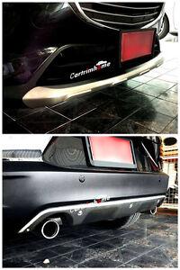 Acero-Frontal-Protector-Parachoques-Trasero-Skid-Plate-2pcs-para-Mazda-CX-3