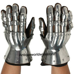 Armour-New-Functional-Medieval-Gauntlets-Gloves-Steel-Gauntlet-Gloves