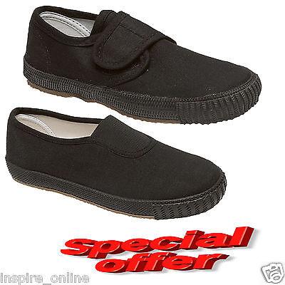 Nuevo Unisex chicos chicas niños de escuela de niños PE Bombas plimsolls Zapatos Zapatillas