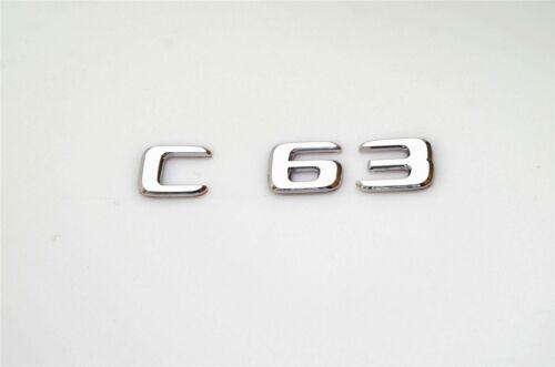C63 Selbstklebend Schriftzug Aufkleber Emblem Badge Decal Sticker Chrome