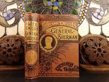 1891 Life of William Tecumseh Sherman Great March CIVIL WAR Union Portrait Maps
