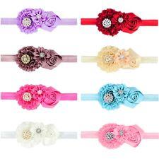 8 Pcs Toddlers Hair Accessories Handmade Diamond Flower Headbands for Baby Girls