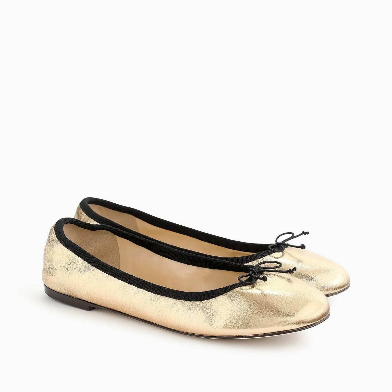 Nouveau J. CREW femmes Evie Ballerines en or-New in Box-Taille 6.5