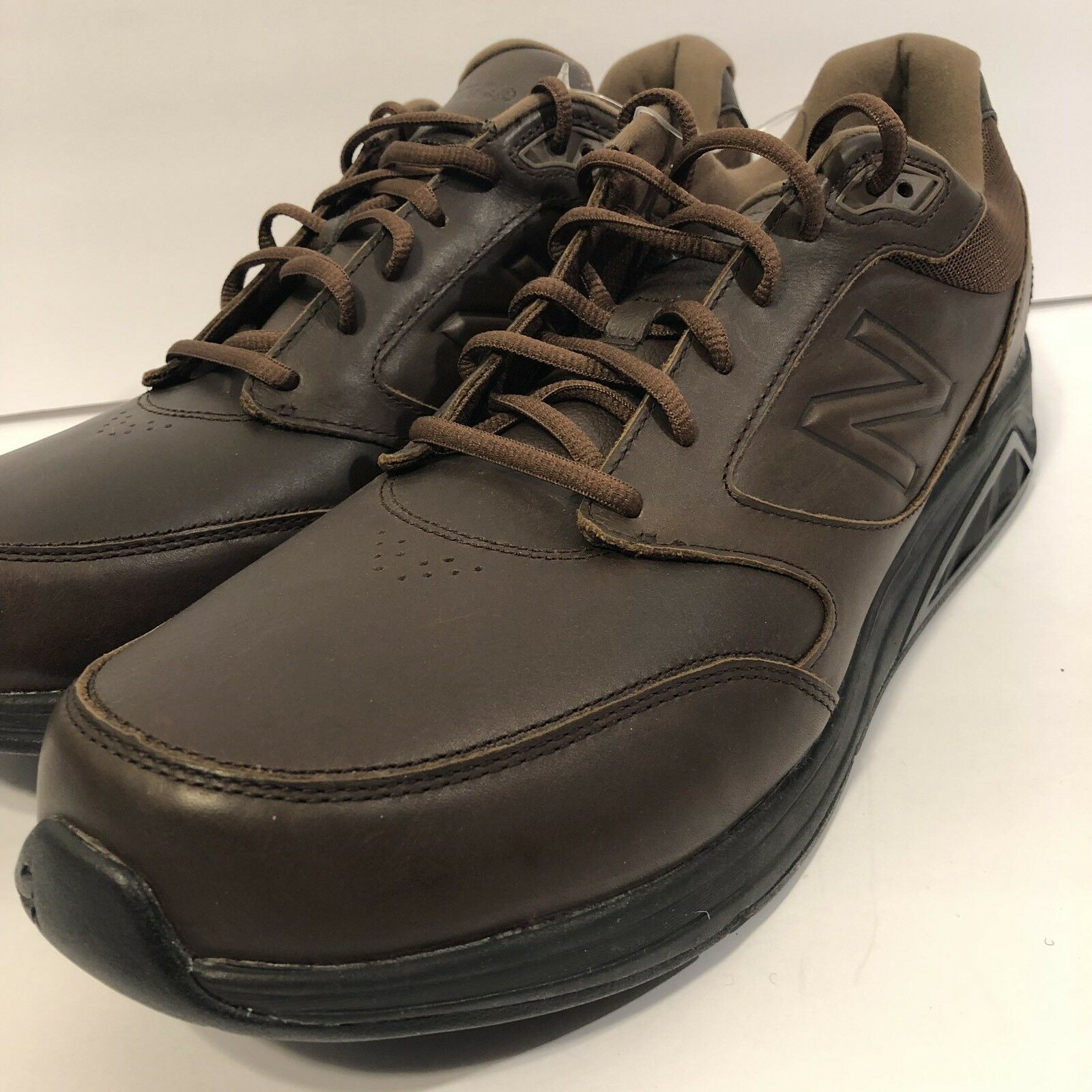New Balance Men's MW928BR2 Brown Leather Walking shoes 928 sz 14