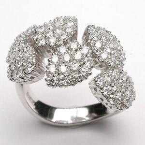 nuovo stile 175f4 f259a Dettagli su DAMIANI anello Antera Oro Bianco e diamanti 20020171