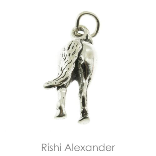 925 Sterling Silver Horses Tail Charm