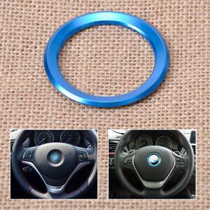 Blau-Lenkrad-Blende-Ring-Zierleiste-fuer-BMW-E81-E87-F30-F01-F34-F32-F10-F11-F25