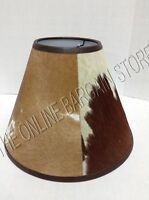 Pottery Barn Rustic Cabin Country Basic Cowhide Lamp Light Shade Small Brown